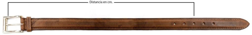 Como medir un cinturón en centímetros.